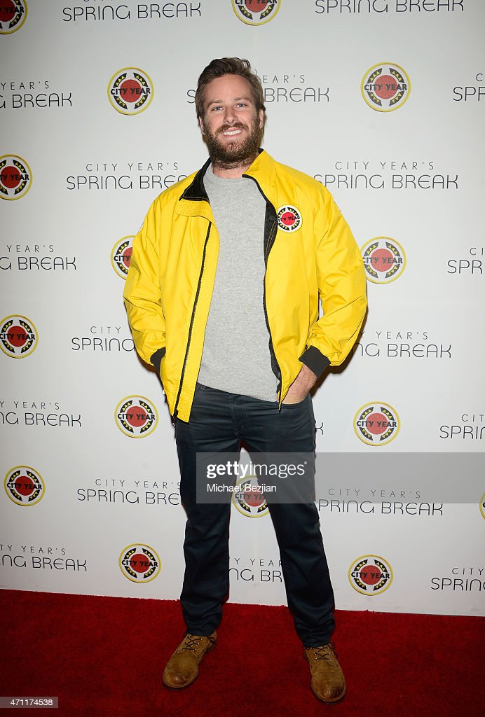 Actor <a gi-track='captionPersonalityLinkClicked' href=/galleries/search?phrase=Armie+Hammer&family=editorial&specificpeople=5313113 ng-click='$event.stopPropagation()'>Armie Hammer</a> attends City Year Los Angeles Spring Break at Sony Studios on April 25, 2015 in Los Angeles, California.