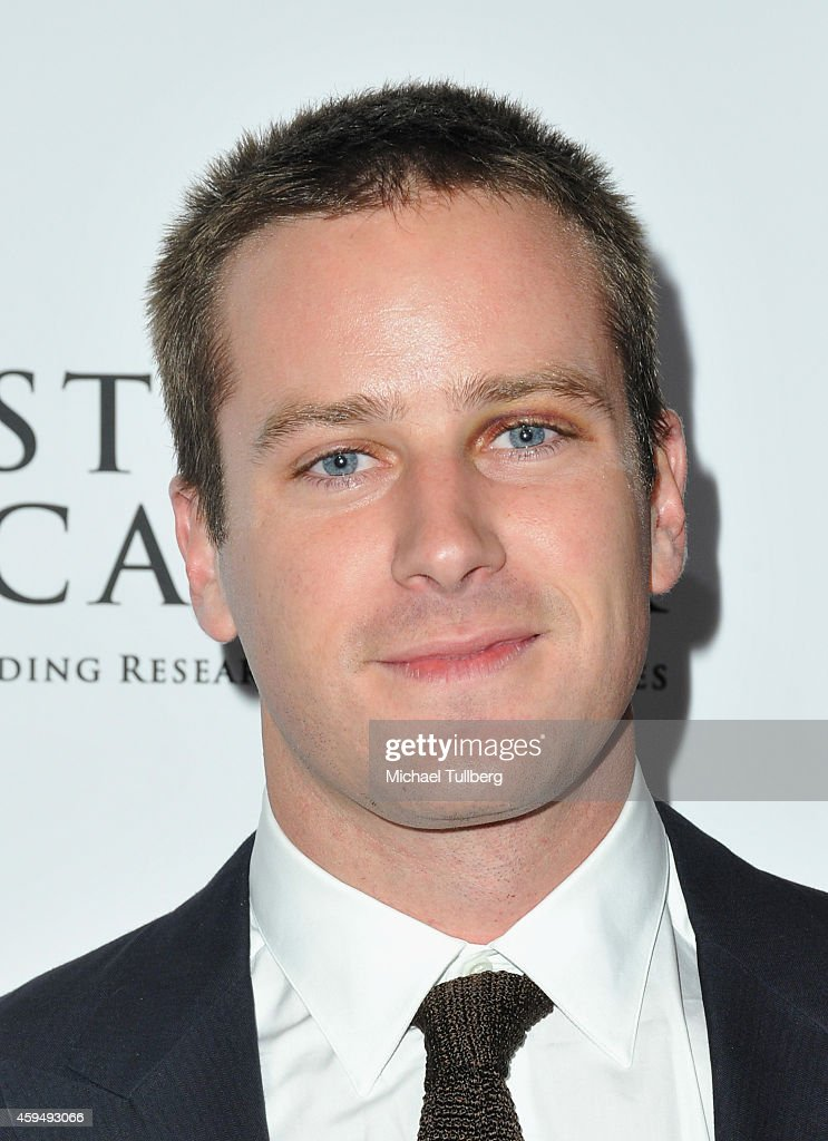 Actor Armie Hammer attends Stop Cancer's Annual Gala Honoring Lori And Michael Milken at The Beverly Hilton Hotel on November 23, 2014 in Beverly Hills, California.