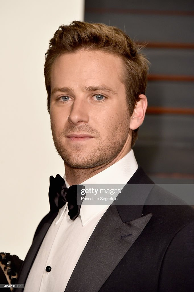 Actor <a gi-track='captionPersonalityLinkClicked' href=/galleries/search?phrase=Armie+Hammer&family=editorial&specificpeople=5313113 ng-click='$event.stopPropagation()'>Armie Hammer</a> attends the 2015 Vanity Fair Oscar Party hosted by Graydon Carter at Wallis Annenberg Center for the Performing Arts on February 22, 2015 in Beverly Hills, California.