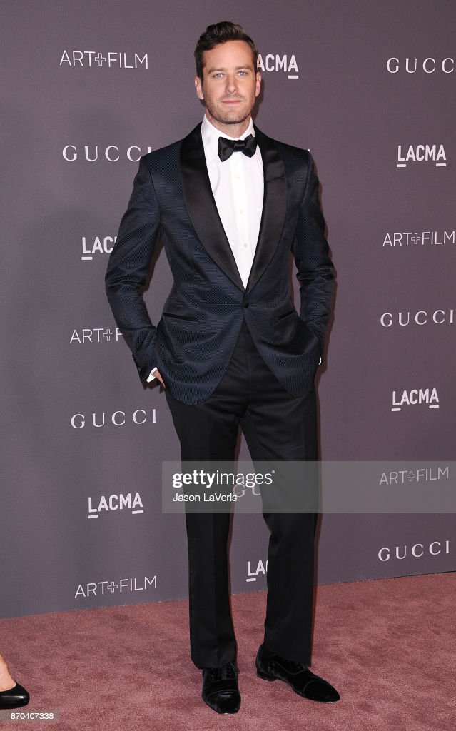 Actor Armie Hammer attends the 2017 LACMA Art + Film gala at LACMA on November 4, 2017 in Los Angeles, California.