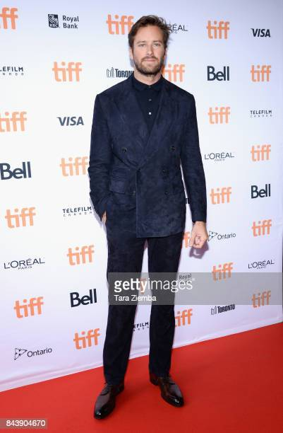 Actor Armie Hammer attends the 'Call Me By Your Name' premiere during the 2017 Toronto International Film Festival at Ryerson Theatre on September 7...