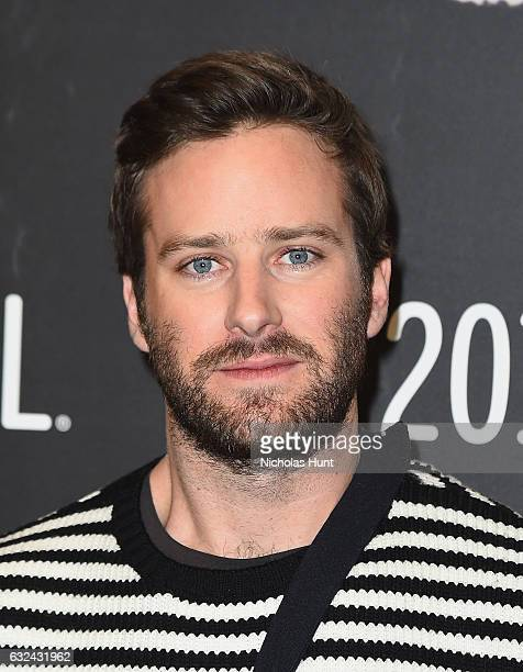 Actor Armie Hammer attends the 'Call Me By Your Name' Premiere on day 4 of the 2017 Sundance Film Festival at Eccles Center Theatre on January 22...