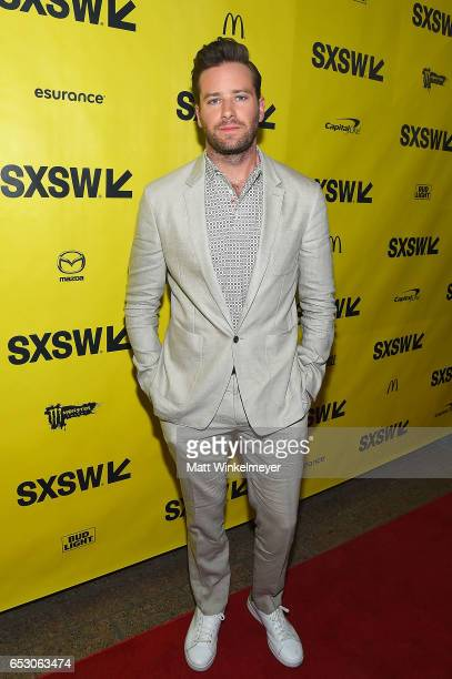 Actor Armie Hammer attends the 'FREE FIRE' premiere 2017 SXSW Conference and Festivals on March 13 2017 in Austin Texas