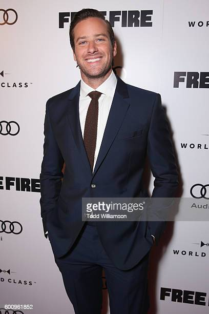 Actor Armie Hammer attends the 'Free Fire' premiere screening party hosted by Bulleit at Early Mercy on September 8 2016 in Toronto Canada