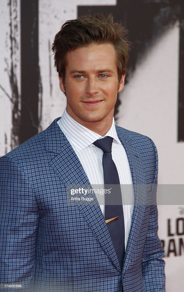 Actor <a gi-track='captionPersonalityLinkClicked' href=/galleries/search?phrase=Armie+Hammer&family=editorial&specificpeople=5313113 ng-click='$event.stopPropagation()'>Armie Hammer</a> attends the 'Lone Ranger' Germany premiere at Sony Centre on July 19, 2013 in Berlin, Germany.