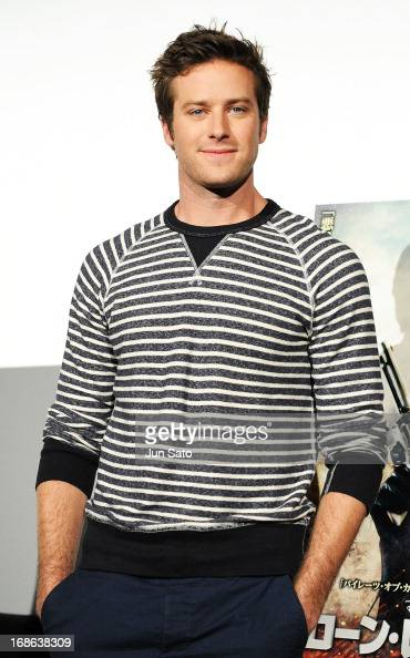 Actor Armie Hammer attends 'The Lone Ranger' press conference on May 13 2013 in Tokyo Japan