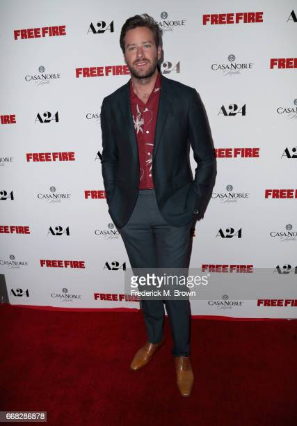 Actor Armie Hammer attends the premiere of A24's 'Free Fire' at ArcLight Hollywood on April 13 2017 in Hollywood California