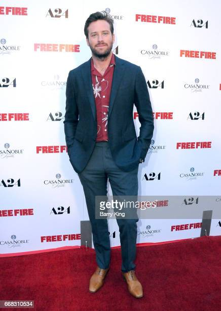 Actor Armie Hammer attends the premiere of A24's' 'Free Fire' at ArcLight Hollywood on April 13 2017 in Hollywood California