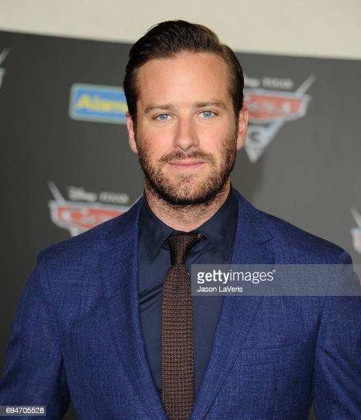 Actor Armie Hammer attends the premiere of 'Cars 3' at Anaheim Convention Center on June 10 2017 in Anaheim California