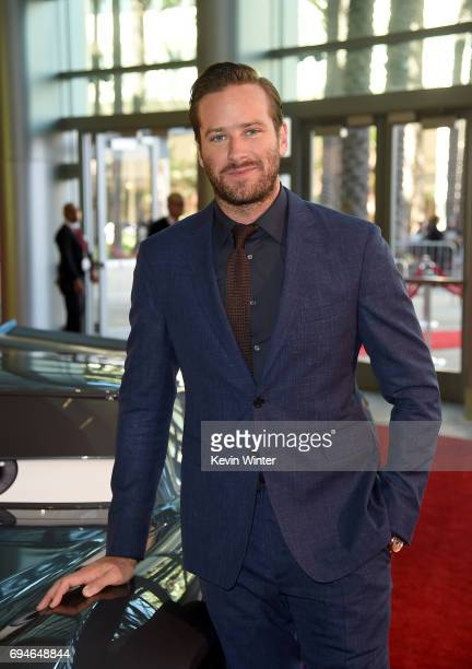 Actor Armie Hammer attends the premiere of Disney and Pixar's 'Cars 3' at Anaheim Convention Center on June 10 2017 in Anaheim California
