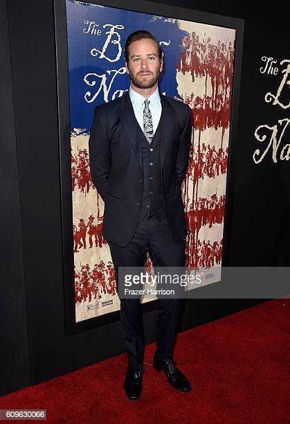 Actor Armie Hammer attends the premiere of Fox Searchlight Pictures' 'The Birth of a Nation' at ArcLight Cinemas Cinerama Dome on September 21 2016...