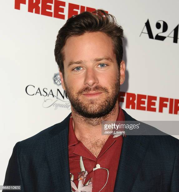 Actor Armie Hammer attends the premiere of 'Free Fire' at ArcLight Hollywood on April 13 2017 in Hollywood California