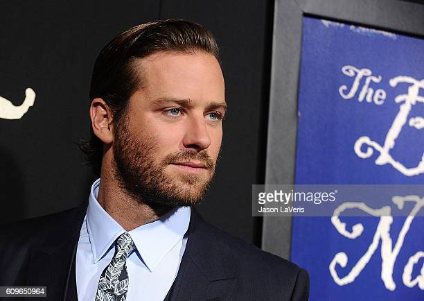 Actor Armie Hammer attends the premiere of 'The Birth of a Nation' at ArcLight Cinemas Cinerama Dome on September 21 2016 in Hollywood California
