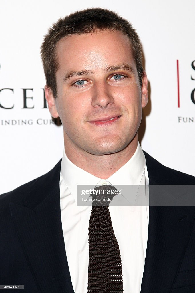 Actor <a gi-track='captionPersonalityLinkClicked' href=/galleries/search?phrase=Armie+Hammer&family=editorial&specificpeople=5313113 ng-click='$event.stopPropagation()'>Armie Hammer</a> attends the STOP CANCER annual gala honoring Lori And Michael Milken held at The Beverly Hilton Hotel on November 23, 2014 in Beverly Hills, California.
