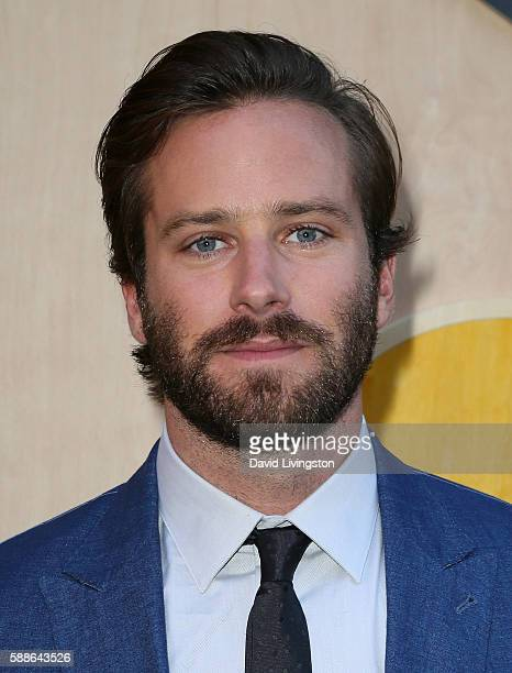 Actor Armie Hammer attends the Sundance Institute NIGHT BEFORE NEXT event at The Theatre at The Ace Hotel on August 11 2016 in Los Angeles California