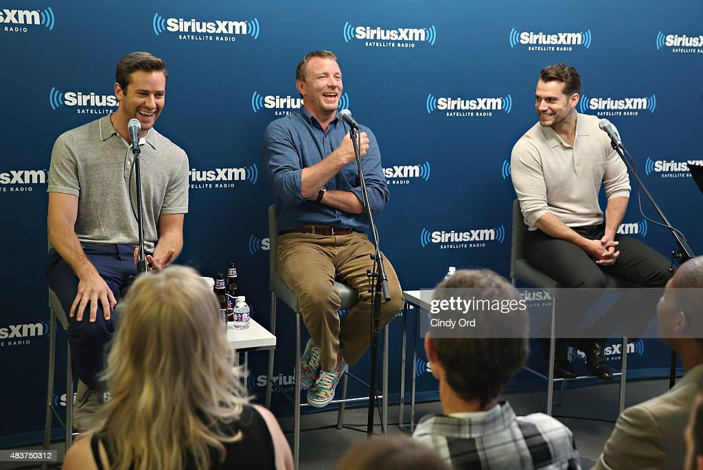 Actor Armie Hammer, director Guy Ritchie and actor Henry Cavill take part in SiriusXM's Entertainment Weekly Radio 'The Man from U.N.C.L.E.' Town Hall with Guy Ritchie, Henry Cavill and Armie Hammer on August 12, 2015 in New York City.