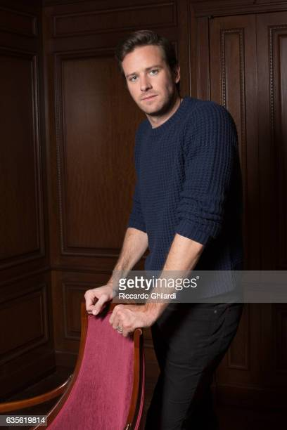Actor Armie Hammer is photographed for Self Assignment on February 11 2017 in Berlin Germany