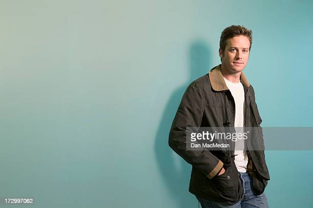 Actor Armie Hammer is photographed for USA Today on June 13 2013 in West Hollywood California