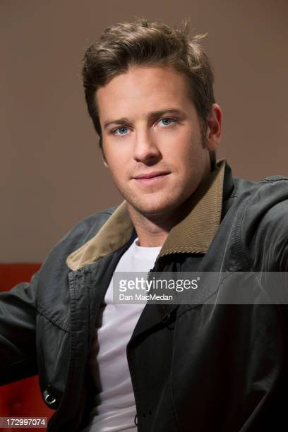 Actor Armie Hammer is photographed for USA Today on June 13 2013 in West Hollywood California PUBLISHED IMAGE