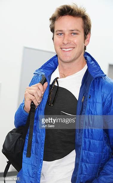Actor Armie Hammer is seen upon arrival at Narita International Airport on May 12 2013 in Narita Japan