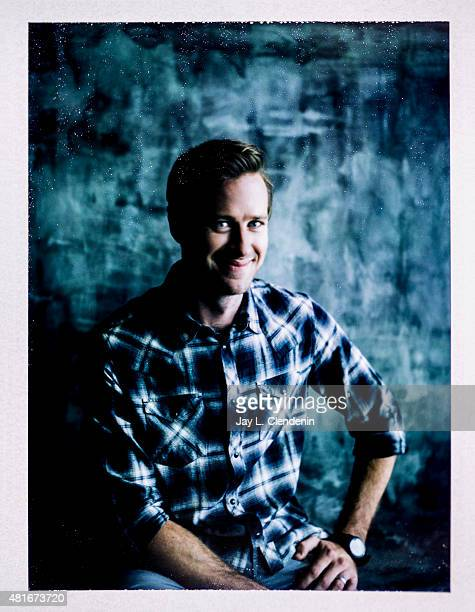 Actor Armie Hammer of ' Man from UNCLE' is photographed on polaroid film at ComicCon International 2015 for Los Angeles Times on July 9 2015 in San...