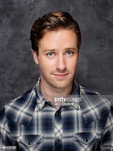 Actor Armie Hammer of ' Man from UNCLE' poses poses for a portrait at ComicCon International 2015 for Los Angeles Times on July 9 2015 in San Diego...