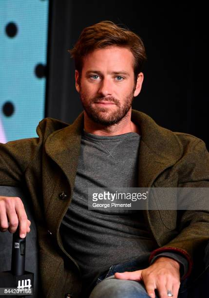 Actor Armie Hammer speaks onstage at the 'Call Me By Your Name' press conference during 2017 Toronto International Film Festival at TIFF Bell...