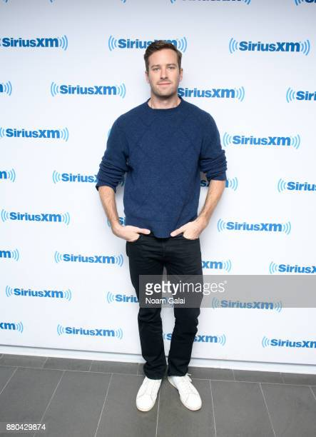 Actor Armie Hammer visits the SiriusXM Studios on November 27 2017 in New York City