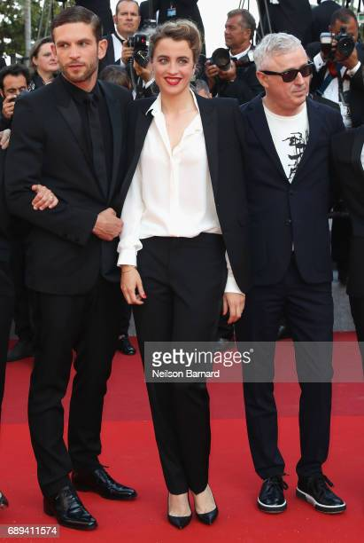 Actor Arnaud Valois director Robin Campillo and actress Adele Haenel attend the Closing Ceremony of the 70th annual Cannes Film Festival at Palais...