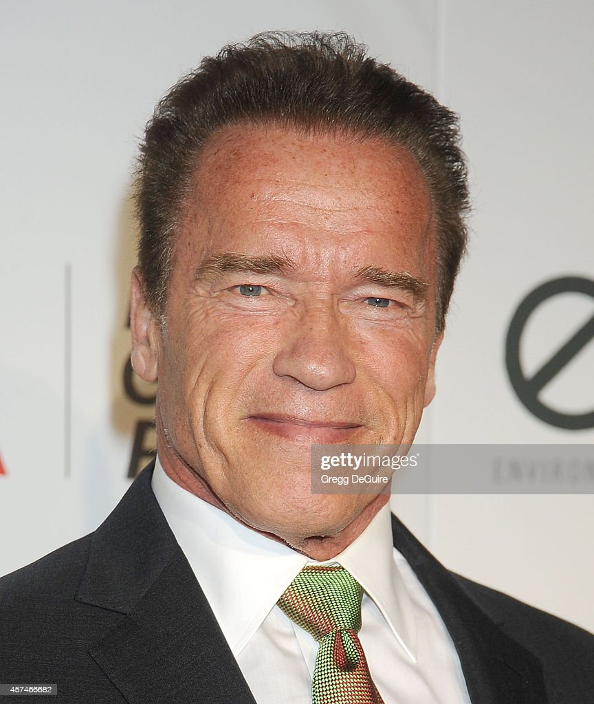 Actor <a gi-track='captionPersonalityLinkClicked' href=/galleries/search?phrase=Arnold+Schwarzenegger&family=editorial&specificpeople=156406 ng-click='$event.stopPropagation()'>Arnold Schwarzenegger</a> arrives at the 2014 Environmental Media Awards at Warner Bros. Studios on October 18, 2014 in Burbank, California.