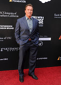 Actor Arnold Schwarzenegger arrives at the 3rd Biennial Rebels With A Cause Fundraiser at Barker Hangar on May 11 2016 in Santa Monica California