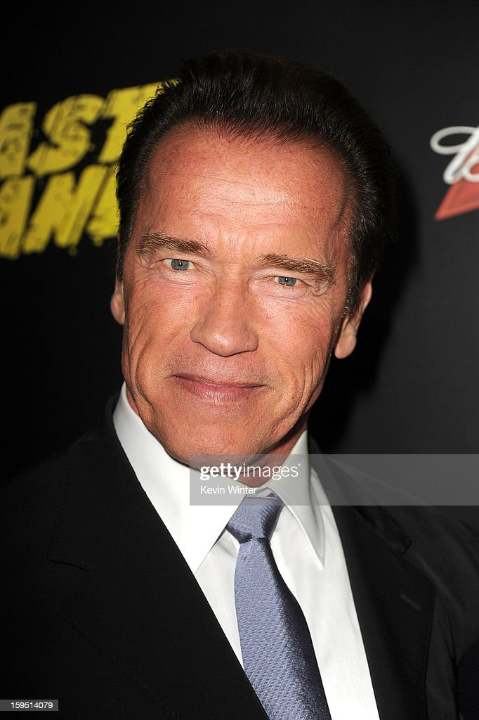 Actor <a gi-track='captionPersonalityLinkClicked' href=/galleries/search?phrase=Arnold+Schwarzenegger&family=editorial&specificpeople=156406 ng-click='$event.stopPropagation()'>Arnold Schwarzenegger</a> arrives at the premiere of Lionsgate Films' 'The Last Stand' at Grauman's Chinese Theatre on January 14, 2013 in Hollywood, California.