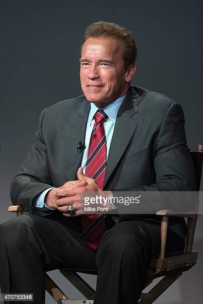 Actor Arnold Schwarzenegger attends Apple Store Soho Presents Tribeca Film Festival Henry Hobson and Arnold Schwarzenegger 'Maggie' at Apple Store...