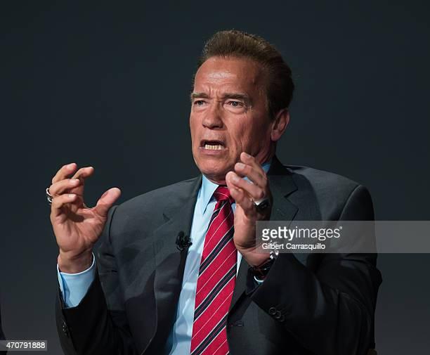 Actor Arnold Schwarzenegger attends the Apple Store Soho Presents Tribeca Film Festival Henry Hobson and Arnold Schwarzenegger 'Maggie' at Apple...
