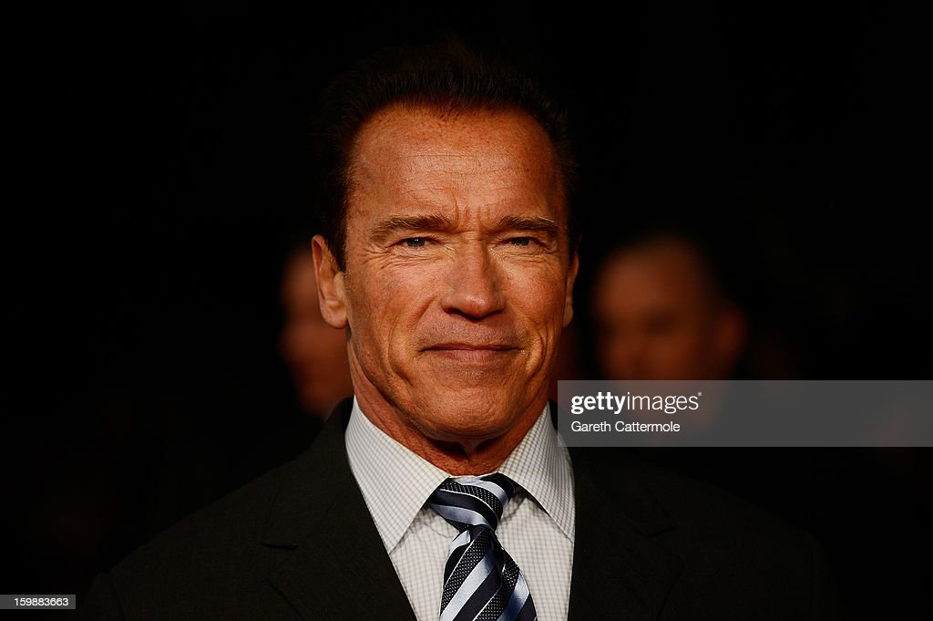 Actor <a gi-track='captionPersonalityLinkClicked' href=/galleries/search?phrase=Arnold+Schwarzenegger&family=editorial&specificpeople=156406 ng-click='$event.stopPropagation()'>Arnold Schwarzenegger</a> attends the European Premiere of 'The Last Stand' at Odeon West End on January 22, 2013 in London, England.