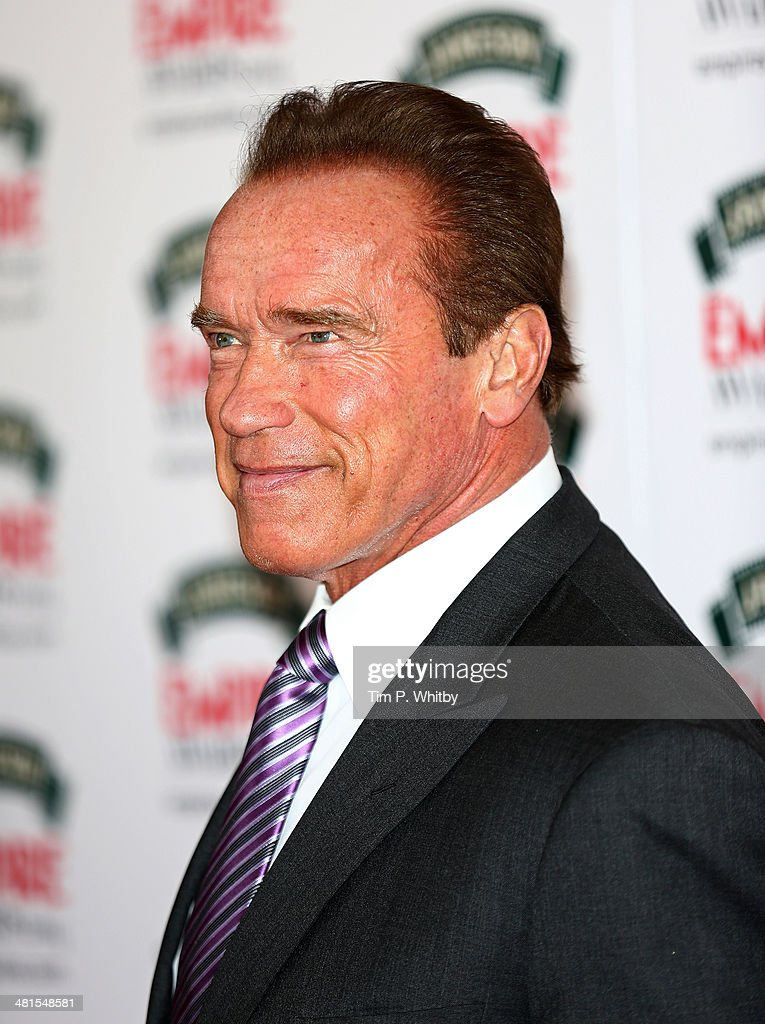 Actor Arnold Schwarzenegger attends the Jameson Empire Awards 2014 at the Grosvenor House Hotel on March 30, 2014 in London, England. Regarded as a relaxed end to the awards show season, the Jameson Empire Awards celebrate the film industry's success stories of the year with winners being voted for entirely by members of the public. Visit empireonline.com/awards2014 for more information.