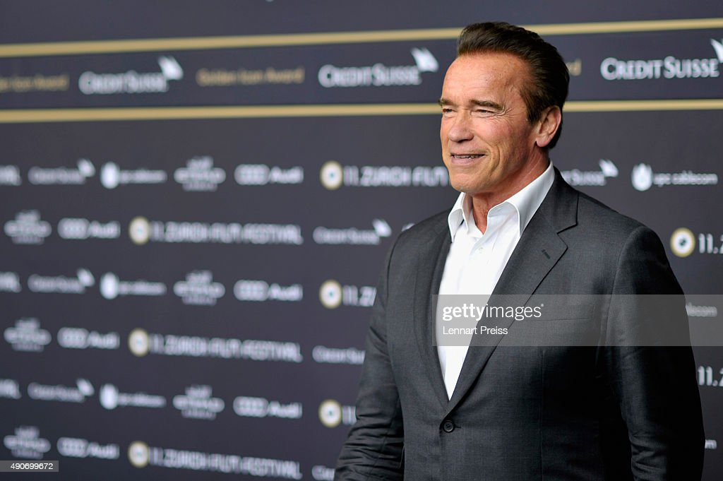 Actor <a gi-track='captionPersonalityLinkClicked' href=/galleries/search?phrase=Arnold+Schwarzenegger&family=editorial&specificpeople=156406 ng-click='$event.stopPropagation()'>Arnold Schwarzenegger</a> attends the 'Maggie' Premiere and Golden Icon Award Ceremony during the Zurich Film Festival on September 30, 2015 in Zurich, Switzerland. The 11th Zurich Film Festival will take place from September 23 until October 4.
