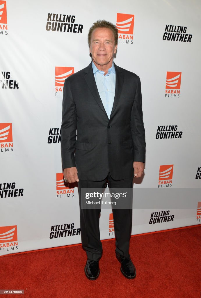 Actor Arnold Schwarzenegger attends the premiere of Saban Films' 'Killing Gunther' at TCL Chinese Theatre on October 14, 2017 in Hollywood, California.