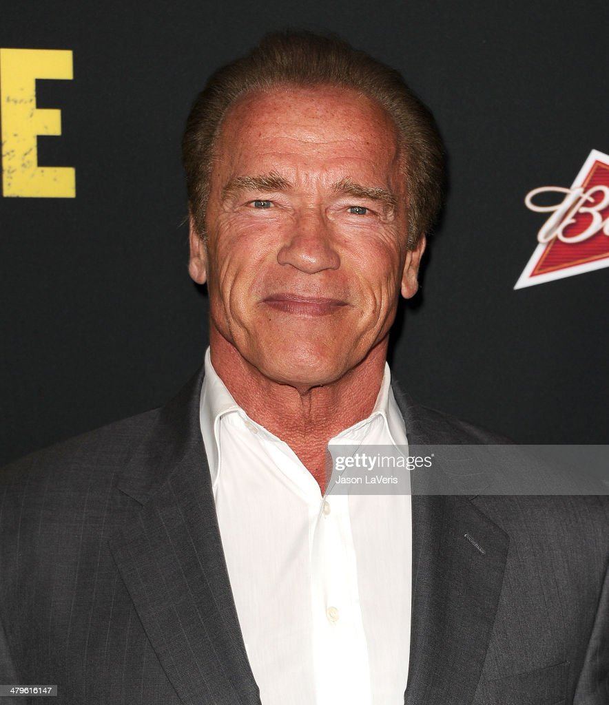 Actor <a gi-track='captionPersonalityLinkClicked' href=/galleries/search?phrase=Arnold+Schwarzenegger&family=editorial&specificpeople=156406 ng-click='$event.stopPropagation()'>Arnold Schwarzenegger</a> attends the premiere of 'Sabotage' at Regal Cinemas L.A. Live on March 19, 2014 in Los Angeles, California.