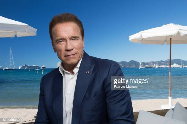 Actor Arnold Schwarzenegger is photographed for the Hollywood Reporter on May 20 2017 in Cannes France