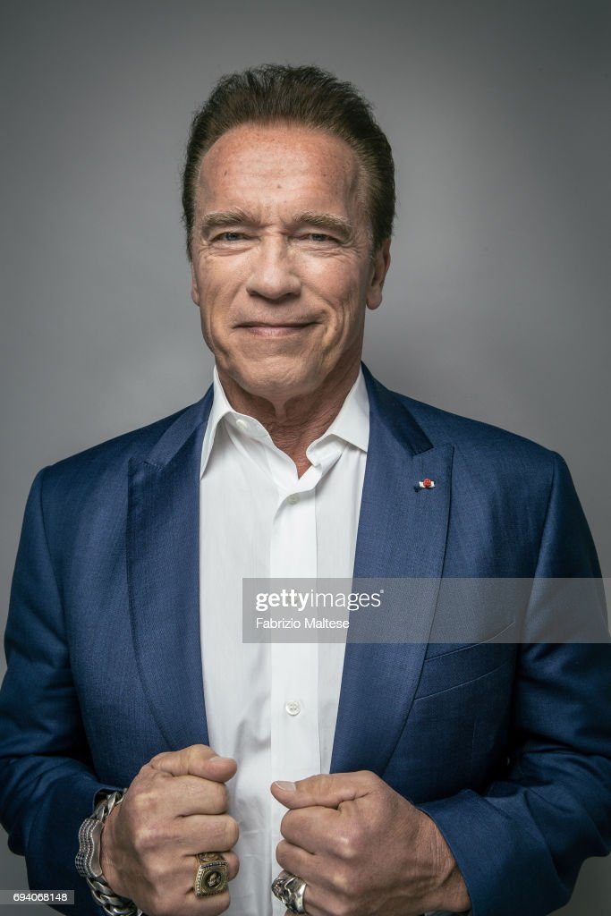 Actor Arnold Schwarzenegger is photographed for the Hollywood Reporter on May 20, 2017 in Cannes, France.