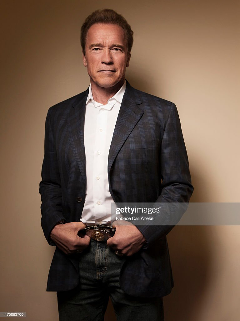 Actor <a gi-track='captionPersonalityLinkClicked' href=/galleries/search?phrase=Arnold+Schwarzenegger&family=editorial&specificpeople=156406 ng-click='$event.stopPropagation()'>Arnold Schwarzenegger</a> is photographed for Vanity Fair.com on April 23, 2015 in New York.