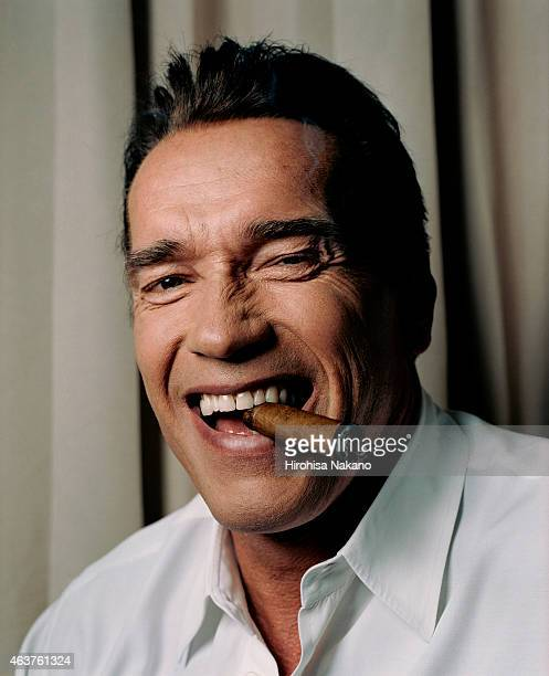 Actor Arnold Schwarzenegger is photographed on December 11 2002 in Tokyo Japan