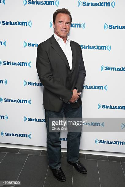 Actor Arnold Schwarzenegger visits the SiriusXM Studios on April 22 2015 in New York City