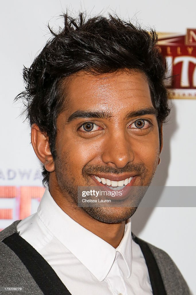 Actor Arshad Aslam arrives at the 'Sister Act' opening night premiere at the Pantages Theatre on July 9, 2013 in Hollywood, California.