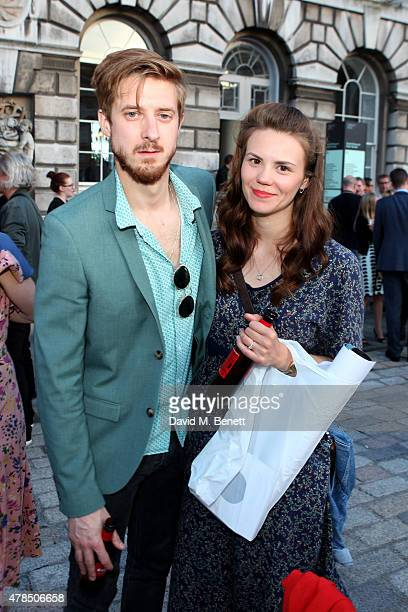 Actor Arthur Darvill and guest attend the private view of The Jam About the Young Idea at Somerset House in London on June 25 2015 in London England...