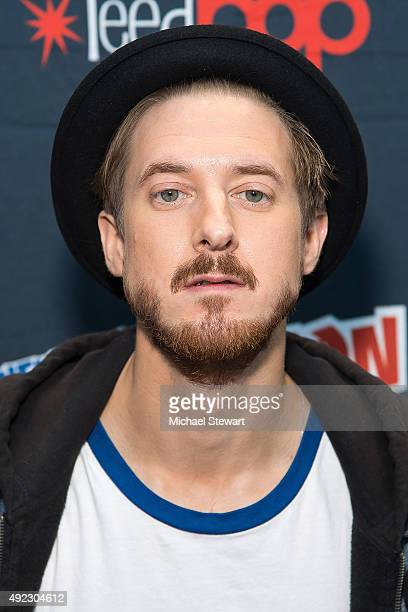 Actor Arthur Darvill poses in the press room for the 'DC's Legends of Tomorrow' panel during Comic Con Day 4 at The Jacob K Javits Convention Center...