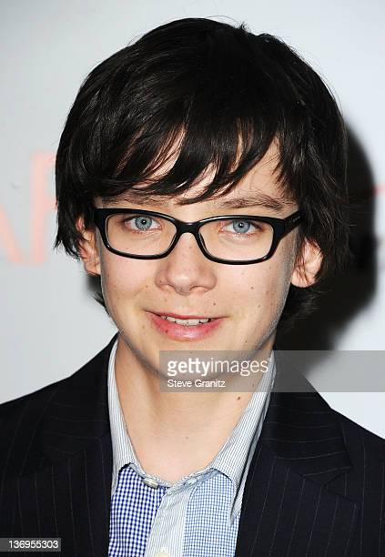 Actor Asa Butterfield arrives at the 12th Annual AFI Awards held at the Four Seasons Hotel Los Angeles at Beverly Hills on January 13 2012 in Beverly...