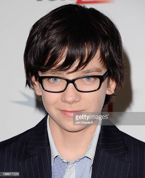 Actor Asa Butterfield arrives at the 2011 AFI Awards Luncheon at Four Seasons Hotel Los Angeles at Beverly Hills on January 13 2012 in Beverly Hills...