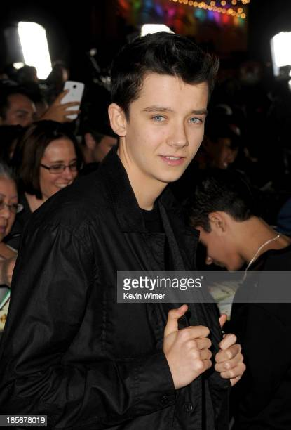 Actor Asa Butterfield arrives at the premiere of Paramount Pictures' 'Jackass Presents Bad Grandpa' at TCL Chinese Theatre on October 23 2013 in...